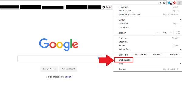 Cookies löschen, Browserverlauf löschen, Google Chrome