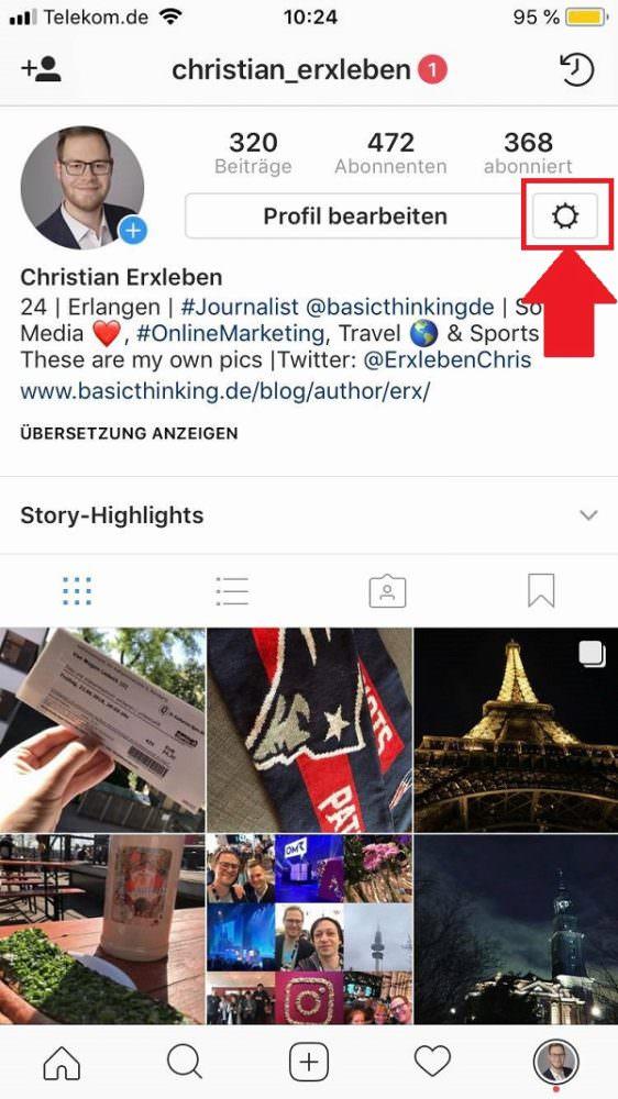 Instagram, Instagram-Daten herunterladen