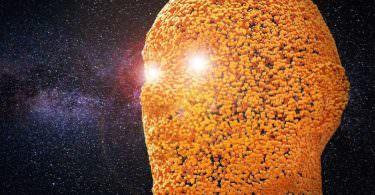 Kopf im Weltall, künstliche Intelligenz, KI, AI