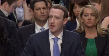 Mark Zuckerberg, US-Kongress