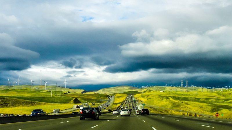 Umwelt Landschaft Autos Windkraft