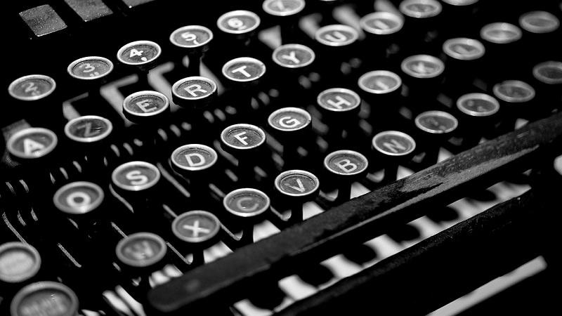 Schreibmaschine, Tastatur, Taste, Pressearbeit