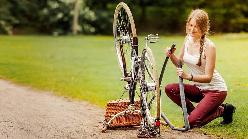 Fahrradpanne Gaadi Schlauch