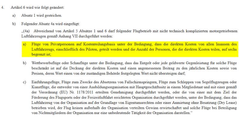 EU-Komission Verordnung Flugbetrieb