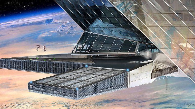 Asgardia Weltraumnation Illustration