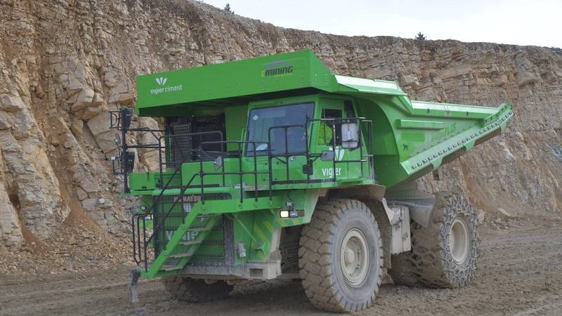Vigier Cement Lynx Kipper größtes Elektrofahrzeug der Welt