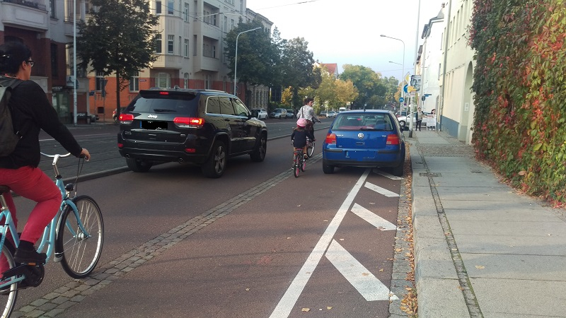 Falschparker Radfahrer Falschparker-Aktionswoche