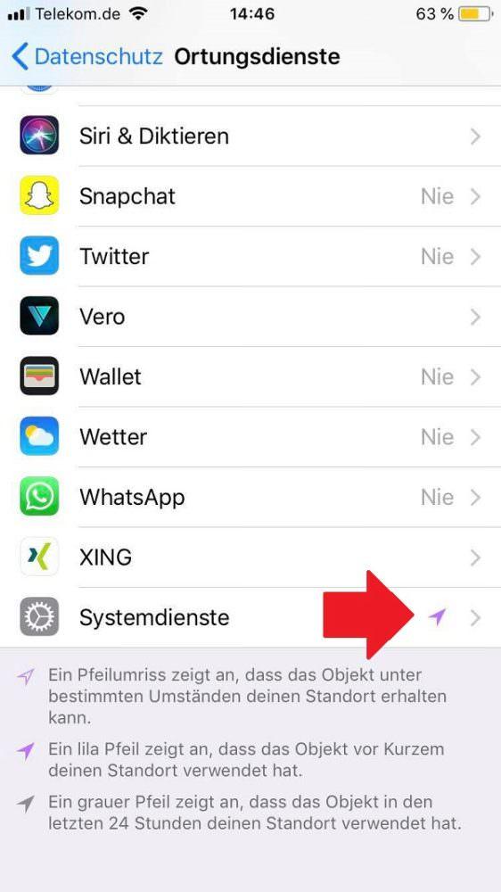 iPhone, Apple, Einstellungen, iPhone Standort deaktivieren