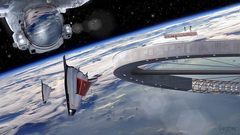 Asgardia Weltraumkönigreich Illustration