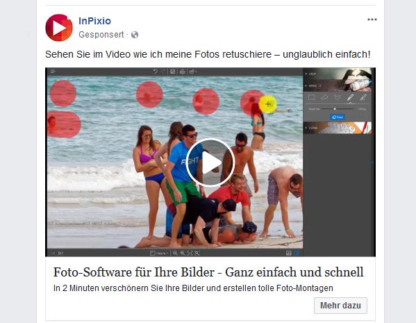 Markenziele Facebook Videoaufruf Beispiel
