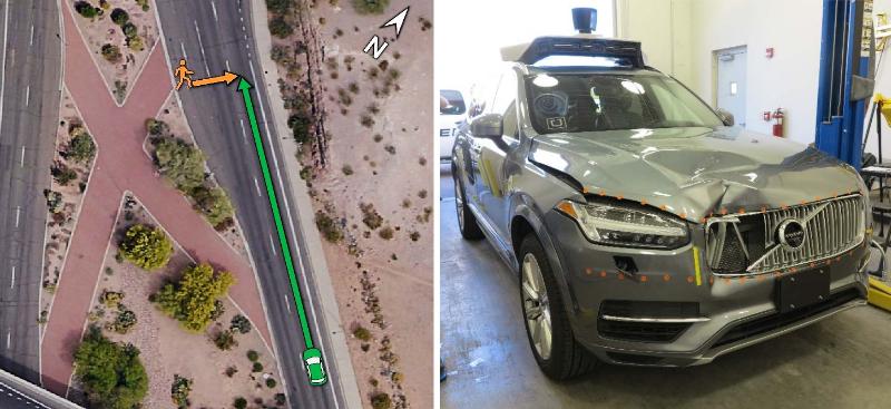 Uber Unfall Bericht Unfallort