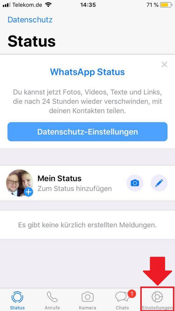 WhatsApp-Account löschen, WhatsApp