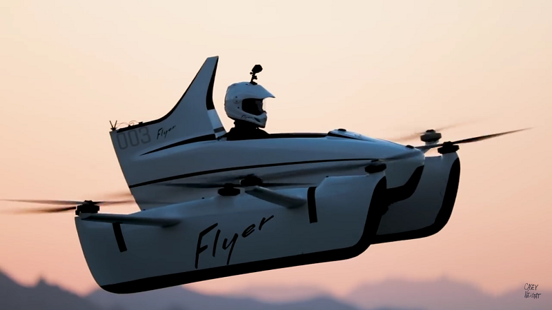 Casey Neistat testet Kitty Hawk