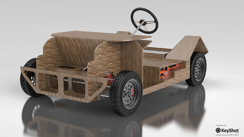 Noah Ecomotive 2017 kompositierbares Elektroauto Karosserie