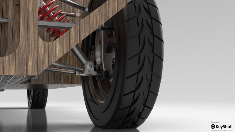 Noah Ecomotive 2017 kompostierbares Elektroauto Detail