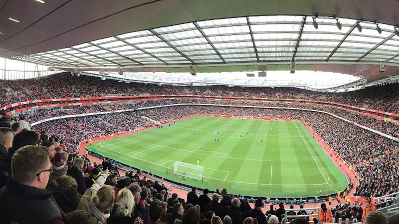Arsenal London, Emirates Stadium, sichtbarste Marke