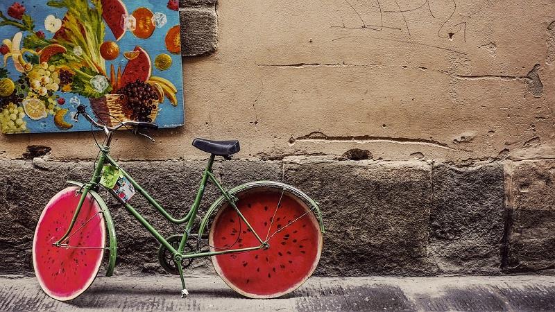 Fahrrad Stadt Graffiti