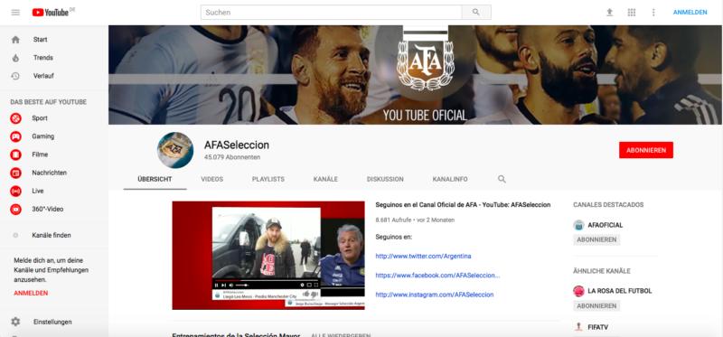 Argentinien, YouTube, WM, Fans, Fußball