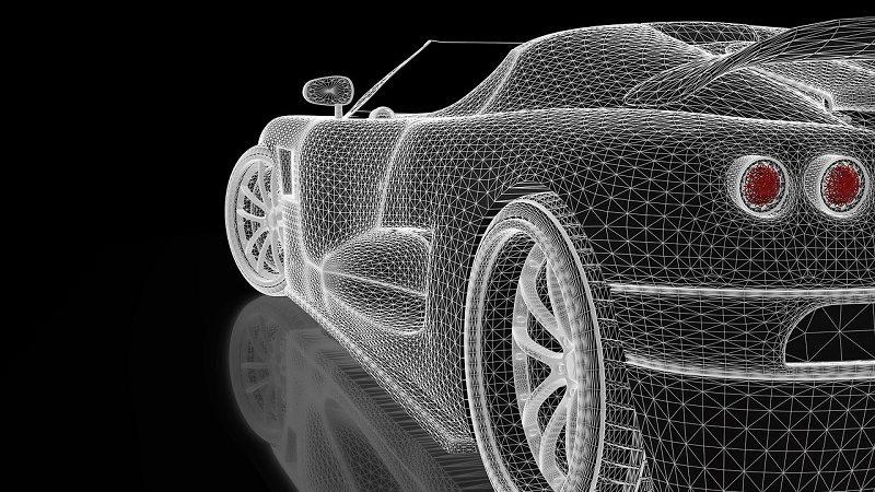 Auto Innenraum futuristisch