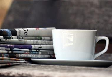 Kaffeetasse, Zeitung, Zeitschriften, Zeitungen, PR