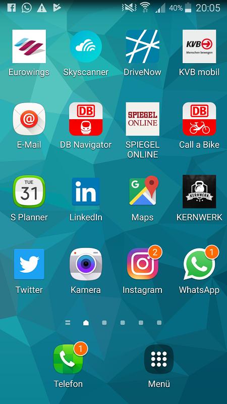Homescreen Mobilitäts-Apps Meike Neitz
