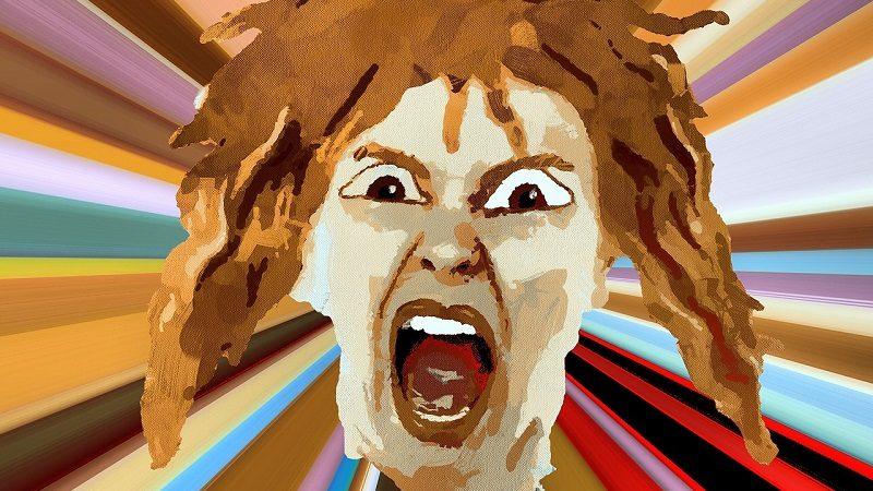 Gesicht Grafik wütend