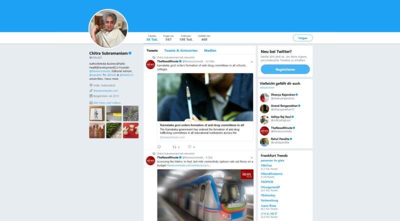 Chitra Subramaniam twitter, erfolgreichste Manager