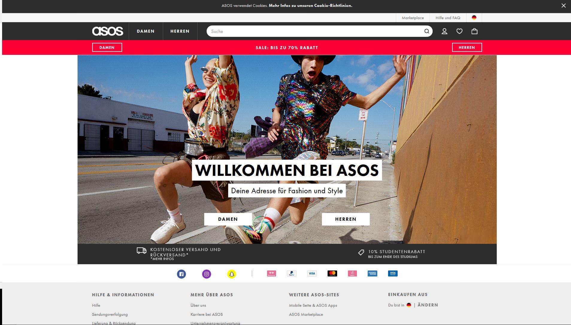 Asos, wertvollste Tech-Unternehmen