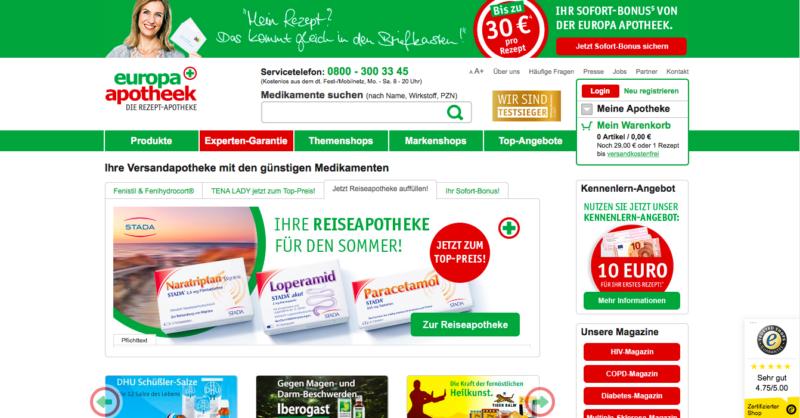 Online Apotheke Europa Apotheek
