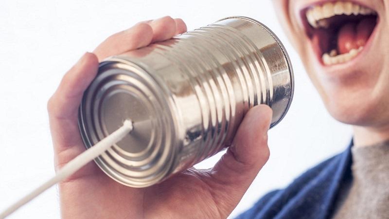 Sprache, Kommunikation, Linguistik, Schnurtelefon, Dosentelefon, Margaret Hogg