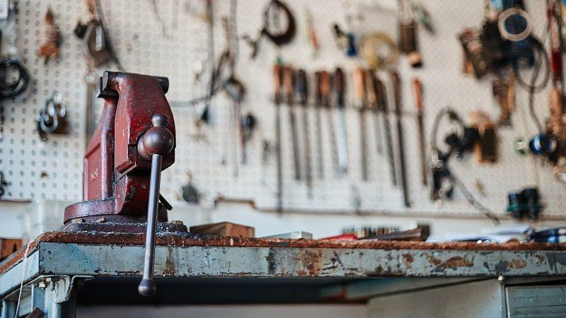 Werkzeug, Werkzeuge, Schraubstock, Tools