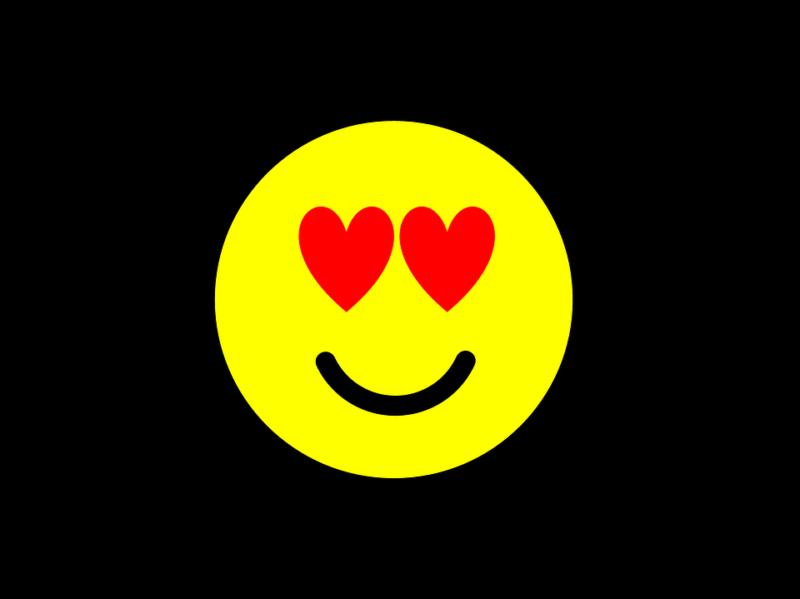Grinsendes Emoji Herzen