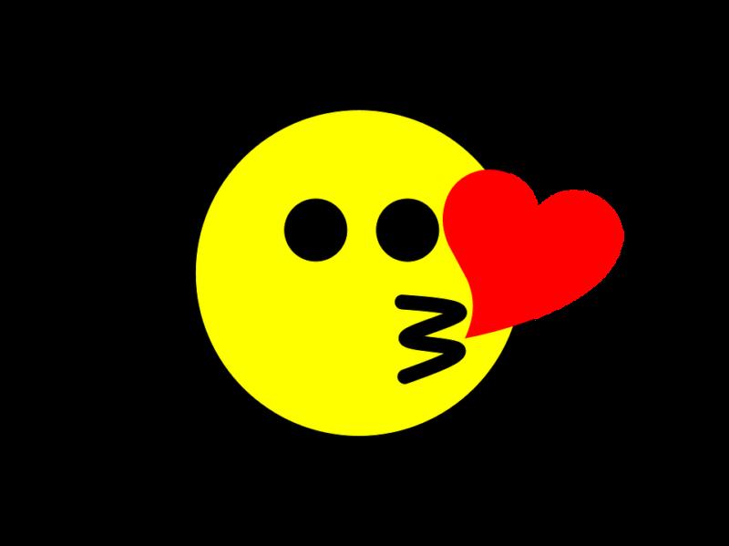 Kussmund Emoji herz