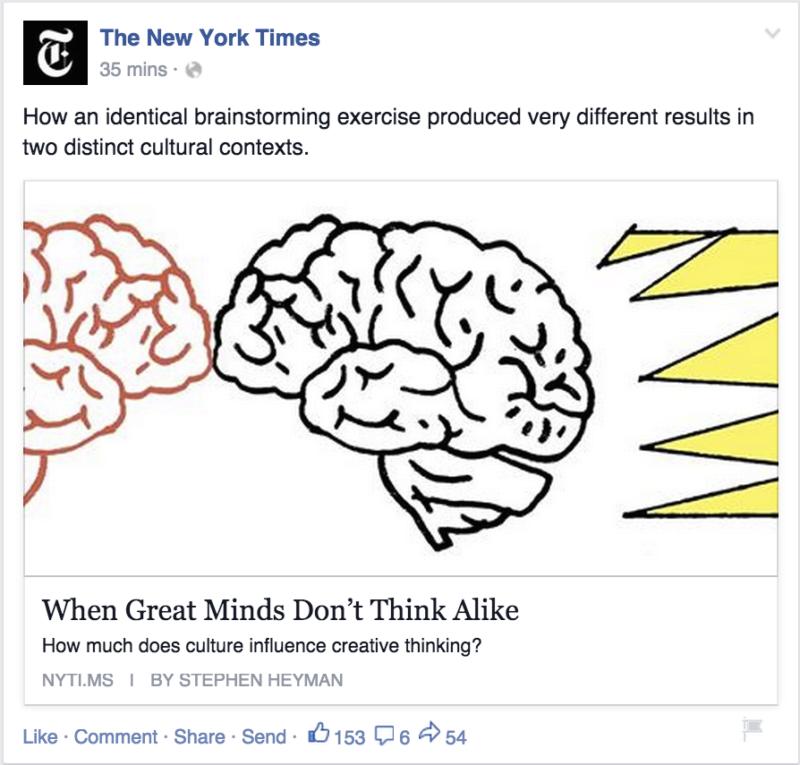 New York Times, Facebook, Link-Vorschau
