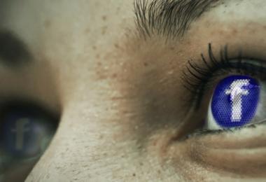 Gesicht, Augen, Facebook Logo