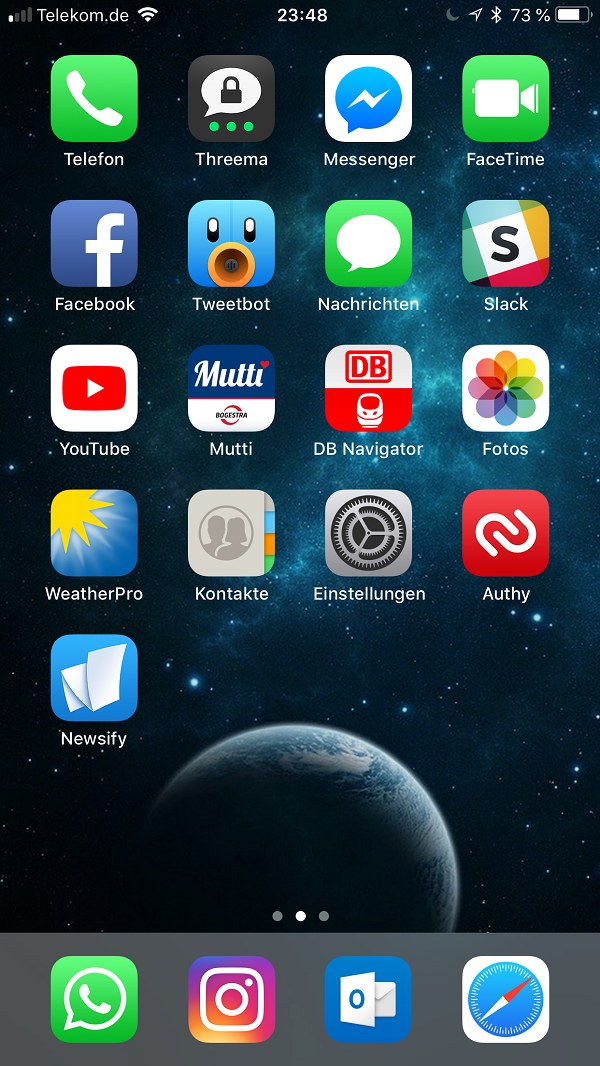 Homescreen, Dennis Hüggenberg, iPhone