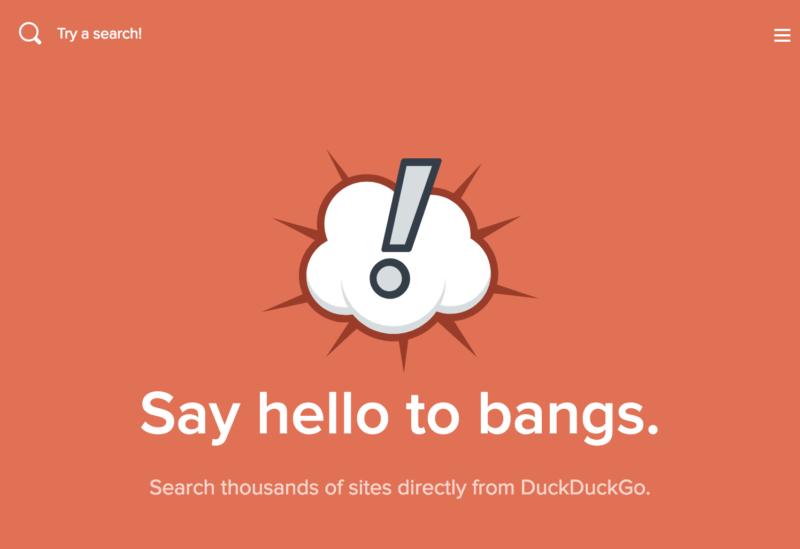 Bang, DuckDuckGo