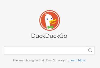 Startseite, Suchmaschine, DuckDuckGo