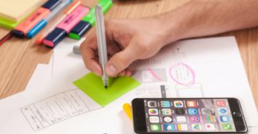 Infografik, Hand, Stift, Smartphone