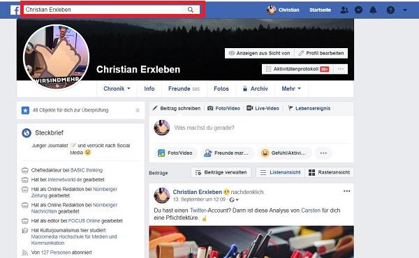 Facebook-Anzeige, Anzeige bei Facebook, Ersteller Facebook-Anzeige, Hintergrund Facebook-Anzeige