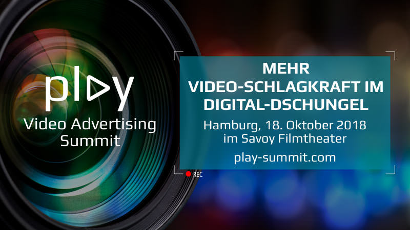 Play Video Advertising Summit, Hamburg