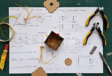 Material, Plan, Kleber, Stifte, Maßband, Skizze, Prototyp, Prototyping