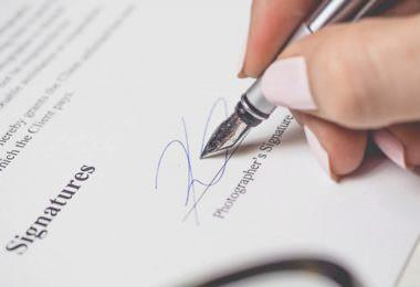 Vertrag, Unterschrift, Signature, guter Vertrag