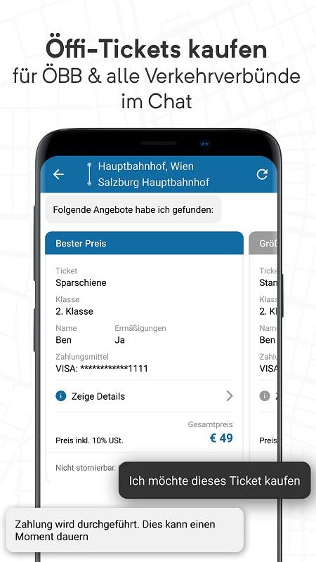 Wegfinder App Screenshot Verkehrsverbünde
