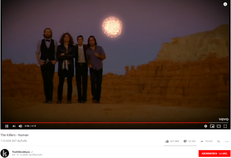 The Killers, Youtube