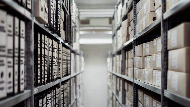 Akten, Ordner, Regal, Archiv, Verwaltung