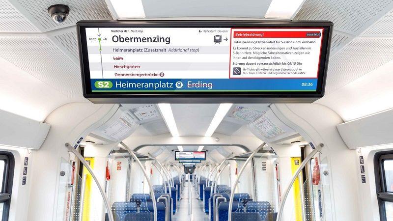DB digitale Anzeige S-Bahn Berlin