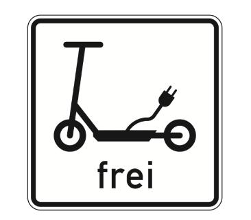 Elektrokleinstfahrzeug Straßenschild