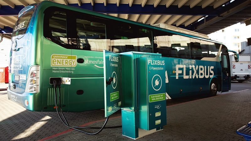 E-Fernbus Flixbus Ladestation