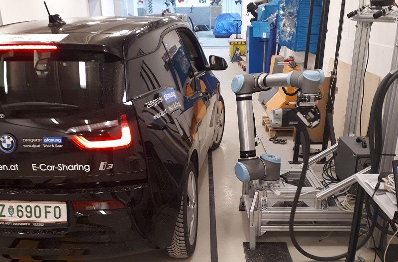 Roboterladen Tankroboter TU Graz